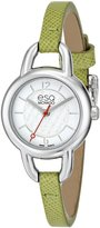 ESQ by Movado ESQ Movado Women's 07101449 Status Stainless Steel Case Green Leather Strap Dial Watch