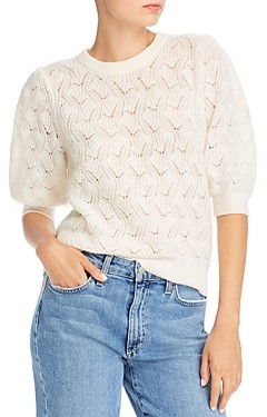 Joie Jenise Wool-Blend Pointelle Sweater