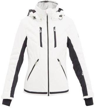 Toni Sailer Henni Padded Hooded Ski Jacket - White Black