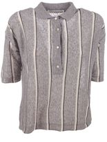 Golden Goose Deluxe Brand Striped Knit Polo Shirt