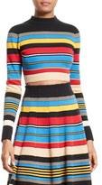 Tracy Reese Women's Stripe Crop Top