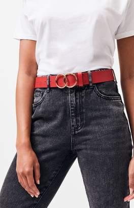 La Hearts Faux Leather O-Ring Belt