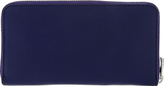 Marc by Marc Jacobs Electric Stage Blue Leather Zip Around Wallet
