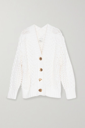 3.1 Phillip Lim Cable-knit Wool-blend Cardigan - White