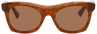 Bottega Veneta Tortoiseshell Square Thick Sunglasses