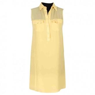 Malo Yellow Silk Dresses
