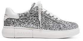Kate Spade Women's Lift Lace Up Glitter Sneakers