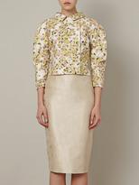 Giambattista Valli Jacquard embellished cropped jacket