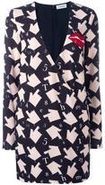 Au Jour Le Jour hand print V-neck dress - women - Polyamide/Polyester/Spandex/Elastane/PVC - 40