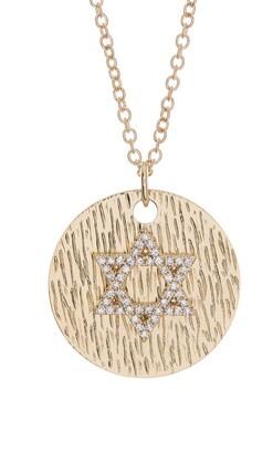 Ron Hami 14K Yellow Gold Diamond Star of David Pendant Necklace - 0.15 ctw