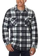 Freedom Foundry Men's Fleece Flannel, Lined Jacket Shirt
