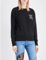 Christopher Kane Kane-embroidered wool and cashmere-blend jumper