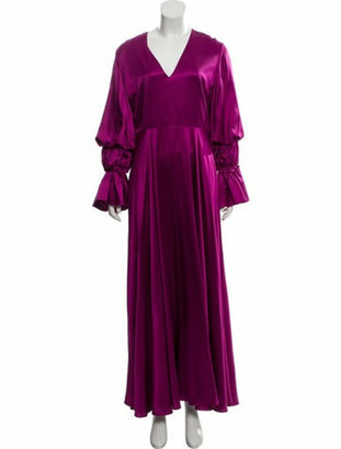 Roksanda Silk Flared Sleeve Maxi Dress w/ Tags