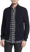 Belstaff Latham Merino Wool Zip-Up Sweater, Navy Melange