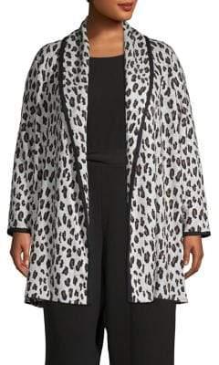 Calvin Klein Plus Leopard-Print Cardigan