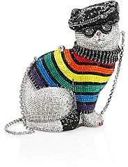 Judith Leiber Couture Women's Rainbow Christopher Cat Crystal Clutch