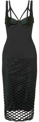 Dion Lee Silk-trimmed Laser-cut Jersey Midi Dress