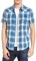 Lucky Brand Men's Dobby Plaid Western Shirt