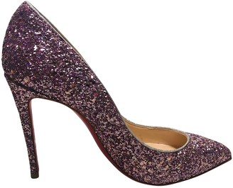 Christian Louboutin Pigalle Purple Glitter Heels