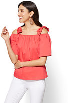 New York & Co. 7th Avenue - Off-The-Shoulder Shirt