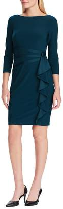 Chaps Satin-Trim Jersey Sheath Dress