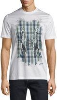 Brioni Short-Sleeve Printed T-Shirt, Blue