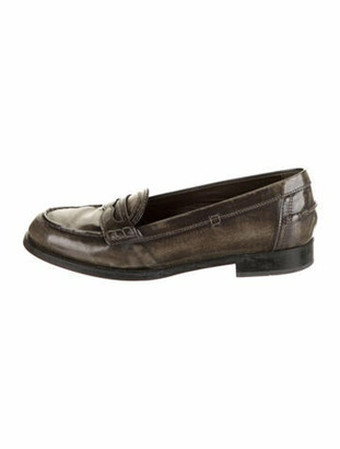 Tod's Leather Cutout Accent Loafers Brown