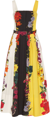 Oscar de la Renta Pleated Stretch-Cotton Dress