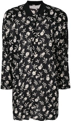 Versace Pre-Owned Floral Printed Shirt