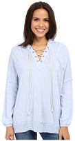 Culture Phit Dagny Long Sleeve Hooded Lace-Up Sweater
