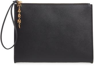 Marni Saffiano Leather Pochette