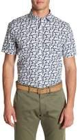 Toscano Short Sleeve Floral Print Shirt