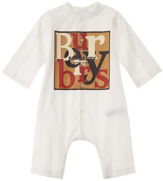 Burberry Logo & Archive Scarf Print Jumpsuit