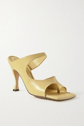 Bottega Veneta Leather Mules - Pastel yellow