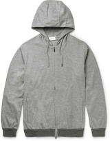 Brioni - Mélange Stretch-cotton Jersey Zip-up Hoodie
