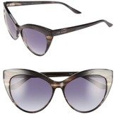 Ted Baker Women's 57Mm Cat Eye Sunglasses - Grey Horn