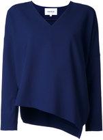 Enfold V neck blouse - women - Polyester/Polyurethane/Rayon - 38
