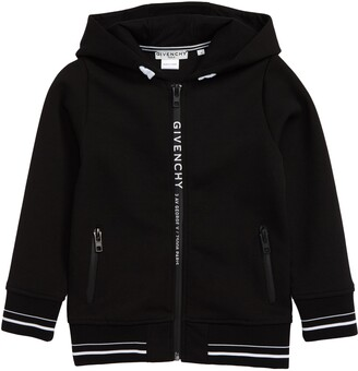 Givenchy Logo Zip Cotton Blend Hoodie