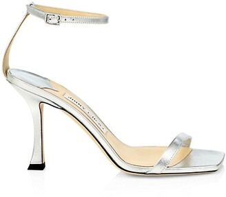 Jimmy Choo Marin Metallic Leather Sandals