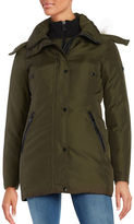 Andrew Marc Sydney Coyote Fur-Trim Down Parka