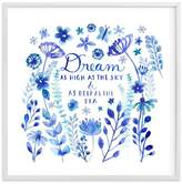 Pottery Barn Teen Dream Blue, Wall Art by Minted®, 44 x 44, White