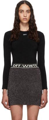Off-White Off White Black Logo Bodysuit