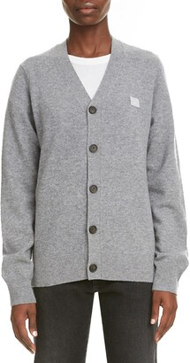 Acne Studios Keve Face Patch Wool Cardigan