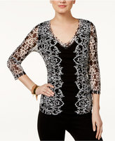 INC International Concepts Printed Mesh Top, Only at Macy's