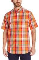 U.S. Polo Assn. Men's Short Sleeve Plaid Single Pocket Sport Shirt