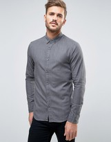 ONLY & SONS Denim Shirt In Washed Black In Slim Fit