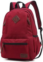 Mn&Sue Unisex Heritage Waterproof Canvas School Backpack Travel Luggage Daypack