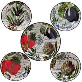 Certified International Botanical Vegetables 5-pc. Pasta Serving Bowl Set