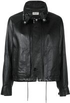 Saint Laurent concealed placket leather jacket