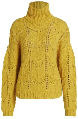 IRO Lovey Turtleneck Open-Stitch Sweater